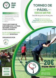 Lee más sobre el artículo Torneo de pádel Sant Pere
